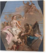 An Allegory With Venus And Time Wood Print