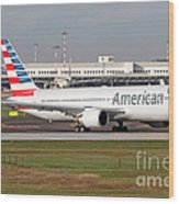 An American Airlines Boeing 767 Wood Print