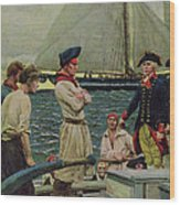 An American Privateer Taking A British Prize, Illustration From Pennsylvanias Defiance Wood Print