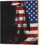 An American Woman Wood Print
