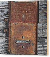 An Antique Mailbox Wood Print