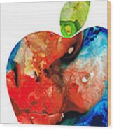 An Apple A Day - Colorful Fruit Art By Sharon Cummings  Wood Print by Sharon Cummings