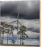 An April Sky Wood Print