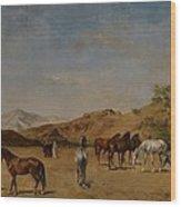 An Arabian Camp Wood Print