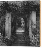 An Archway In The Garden Of Mrs. Carl Tucker Wood Print