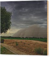 An Arizona Dust Storm  Wood Print