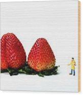 An Artist Drawing Strawberries Wood Print by Paul Ge