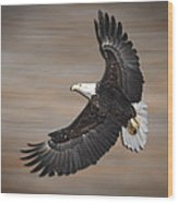 An Artistic Presentation Of The American Bald Eagle Wood Print