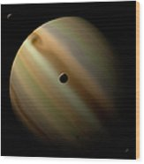 An Artists Depiction Of A Gas Giant Wood Print