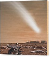 An Artists Depiction Of The Close Pass Wood Print by Marc Ward