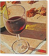 An Autumn Glass Of Red Wood Print by Georgia Fowler
