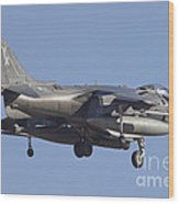 An Av-8b Harrier II Flying Over Yuma Wood Print