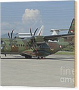 An Eads Casa C-295 Aircraft Wood Print