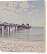 An Early Morning - Naples Pier Wood Print
