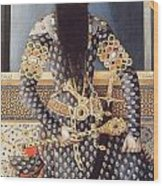 An Early Painting Of Fath Ali Shah Wood Print