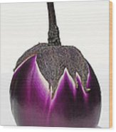 An Eggplant Jewel Wood Print