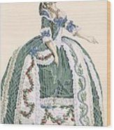 An Elaborate Royal Court Gown, Engraved Wood Print