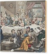 An Election Entertainment, Illustration Wood Print by William Hogarth
