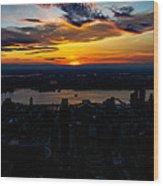 An Empire Sunset Wood Print