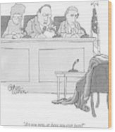 An Empty Suit Sits On A Chair In Court Wood Print