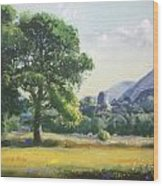 An Englishman's Castle Wood Print