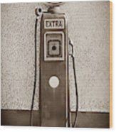 An Esso Petrol Pump From The First Half Wood Print