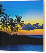 An Evening At Ko Olina Wood Print