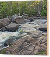 An Evening At Strong Falls Wood Print
