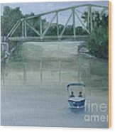 An Evening  Boat Ride On Lachine Canal Wood Print