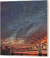 An Evening In Louisville Wood Print