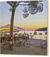 An Evening In Rovinj - Croatia Wood Print
