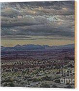 An Evening In The Desert Wood Print