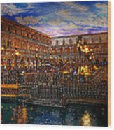 An Evening In Venice Wood Print by David Lee Thompson