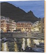 An Evening In Vernazza Wood Print