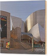 An Evening With Gustavo - Walt Disney Concert Hall Architecture Los Angeles Wood Print