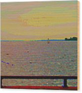 An Expanse Of Sky And Sea Twilight Fishing The Canal St Lawrence River Scenes Art Carole Spandau Wood Print