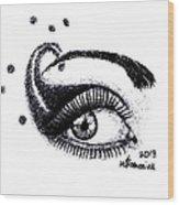 An Eye For Art Wood Print