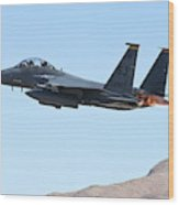An F-15e Strike Eagle Taking Wood Print