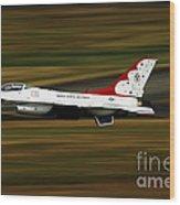 An F-16 Thunderbird Of The U.s. Air Wood Print