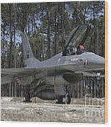 An F-16a Fighting Falcon Wood Print