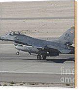 An F-16c Fighting Falcon Taking Wood Print
