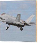 An F-35a Taking Off From Eglin Air Wood Print