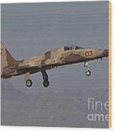 An F-5n Aggressor Aircraft Of The U.s Wood Print