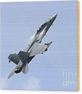 An Fa-18 Super Hornet Of The U.s. Navy Wood Print