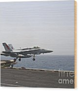 An Fa-18c Hornet Takes Wood Print by Stocktrek Images
