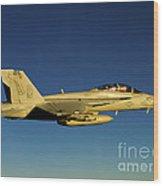 An Fa-18f Super Hornet Displays Wood Print