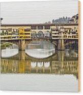 An Icon Of Florence -ponte Veccio Wood Print