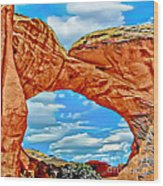 An Impression Of Arches National Park Wood Print
