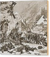 An Incident In The Battle Wood Print