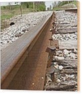 An Inspection Failure Of Train Tracks 6 Wood Print
